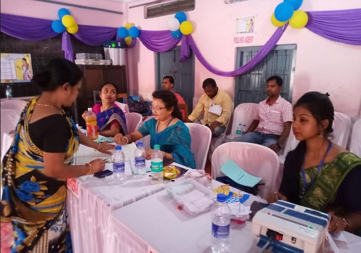 Polling going on smoothly in 10 all-women polling booths at Silchar