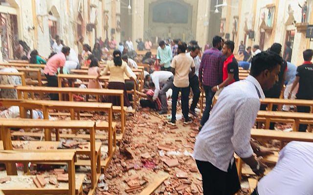 Image result for Serial Blasts In Sri Lanka