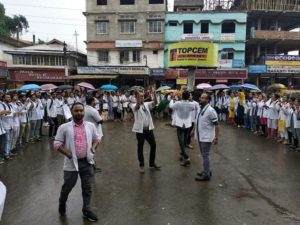 Doctors at Silchar Medical College hold protest in support